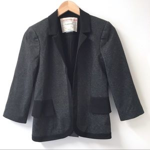 Anthropologie Cartonniet Ruffle Back Blazer. Sz 4